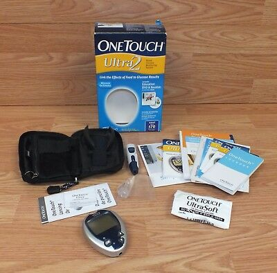 Genuine One Touch Ultra 2 Blood Glucose Monitoring System W/ Box **READ**