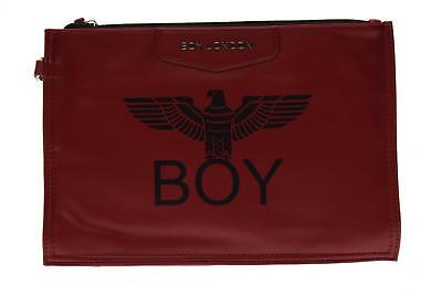 Boy London pochette donna ecopelle con stampa BLA-17 BORDEAUX A17