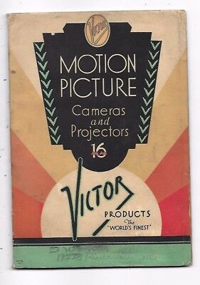 1935 Victor Movie Camera And Projector Catalog Booklet