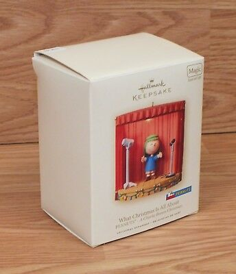 Hallmark What Christmas is all About a Charlie Brown Christmas Keepsake Ornament