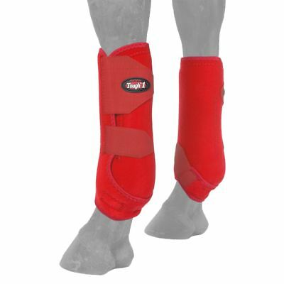 Small Tough 1 Extreme Vented Flexible Horse Leg Rear Sport Boots Pair Red