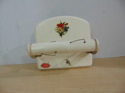 Vintage Wind Up Musical Toilet Paper Dispenser Music Box Reuge Made In Switzeran