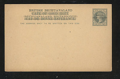 British Bechuanaland overprint on postal  card  unused      KL0509