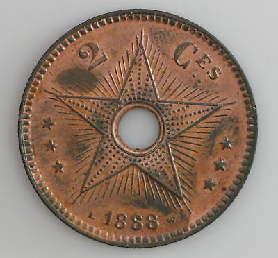 1888 Congo Free State 2 Centimes *1224