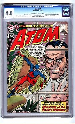 Atom #1 (CGC 4.0) C-O/W pages; 1st app. Plant Master and Maya; DC; 1962 (c#15633