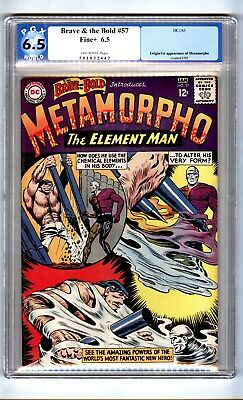 Brave and the Bold 57 (PGX 6.5) O/W pages; Origin/1st app. Metamorpho (c#15635)