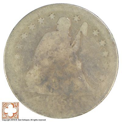 1853 Seated Liberty Silver Quarter *YB40