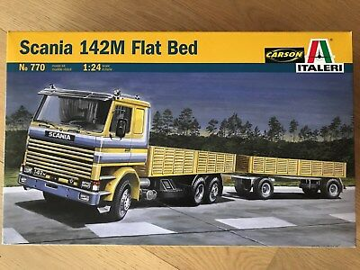 +++ Italeri 1:24 Scania 142M Flat Bed Truck/Trailer 770