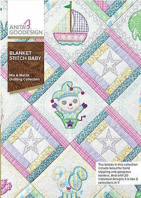 Anita Goodesign Blanket Stitch Baby Embroidery Machine CD NEW 189AGHD