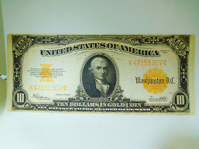 1922 US $10 Large Size Gold Certificate