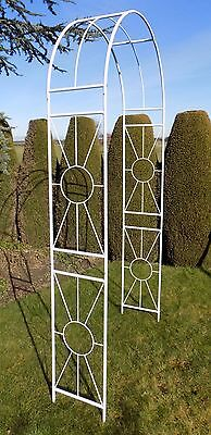 Airedale Metal Garden Arch - Rose White Arches - Wedding Archway