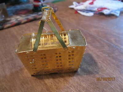 Longaberger Home Office 3D Basket 24 Kt Gold finish ornament