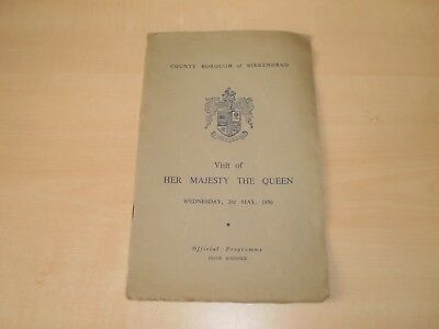 May 1950 Birkenhead Visit Of The Queen Souvenir Softcover Programme Ilustrated