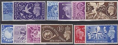 Gb Great Britain Collection Four Kgvi Commemorative Sets Never Hinged Mint
