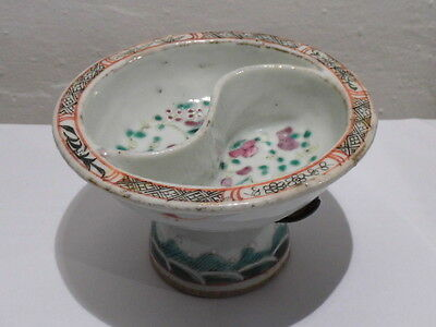 """Small Chinese Bowl with""""Jian Ding"""" Certified Export approval seal mark, pretty"""