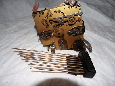 Quality English Brass Westminster Chiming Clock Movement & Chiming Bar,working.