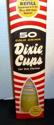 Vintage Box of 50 Dixie Cups 5 ounce NOS for home dispenser
