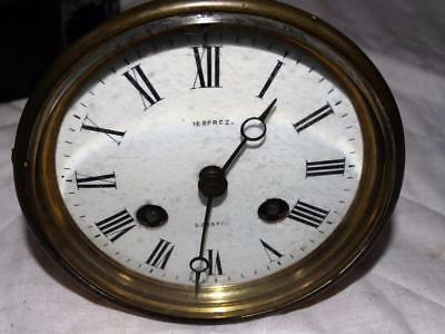 Quality Japy Freres French Brass Clock Movement, Face & Cover,working Order.