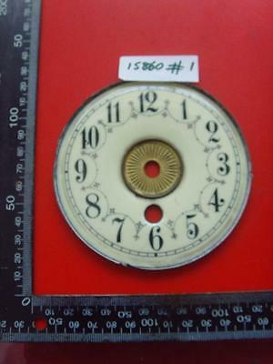 15860#1   Enamel american clock chapter ring clock dial 107 od