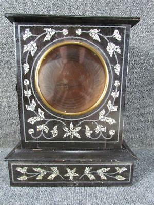Antique Mother Of Pearl Inlaid Mantel Clock Case