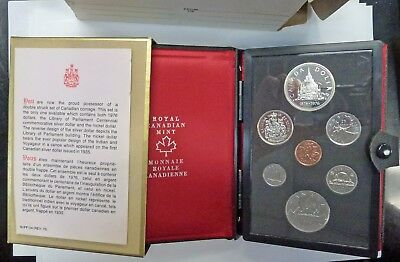 {BJSTAMPS} 1976 Canada Prestige 7 coin Double $  set Parliament silver dollar
