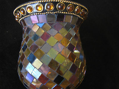 Partylite Global Fusion Mosaic Candle Holder Peglite