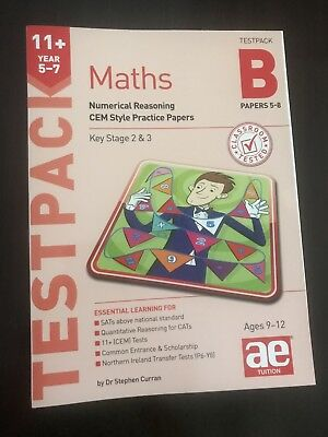 11+ Practice Test Papers, CEM - AE Tuition Maths Test pack, papers 5-8