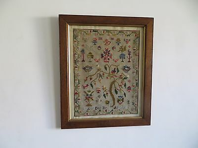 Beautiful Antique Tapestry Sampler.