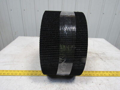 "2 Ply Woven Back Rough Textured Top Black Conveyor Belt 49' x 8"" X 0.29"""