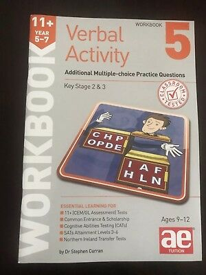 11+ Verbal Activity, Dr Stephen Curran AE Tuition Workbook 5