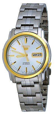 Seiko 5 SNKK72 Men's Two Tone Stainless Steel Silver Dial Automatic Watch