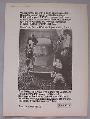 1969 Austin 1100 Mk2 Original advert