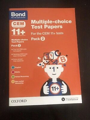 11+ Practice Test Papers, Bond Multiple ChoiceTest Papers - Pack 2, four tests
