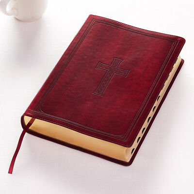 KJV HOLY BIBLE King James Version Burgundy Super Giant Print Thumb Index NEW