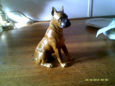 Boxer Dog Metal Figurine 6 inches tall heavy metal?
