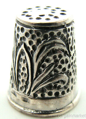Sterling Silver Small Childrens Sewing Thimble #82