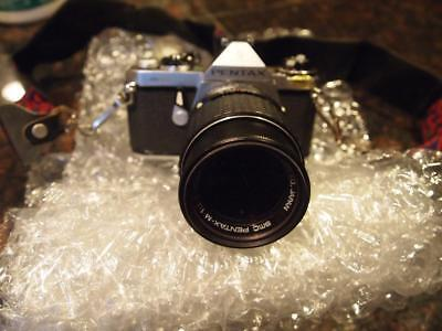 Vintage Pentax ME 35mm Film Camera With 135mm 2.8Lens Sold As-Is