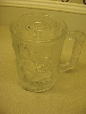 BATMAN FOREVER (ROBIN ) Collector Mug 1995 McDonalds 3D Glass Mug Cup