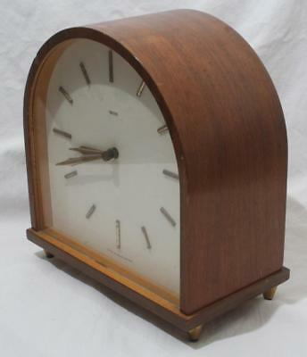 Stylish Mid Century Antique Vintage Smiths Chiming Dome Top Mantle Clock