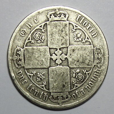 Great Britain : Gothic   Florin. 1873.    0.925.  Silver.