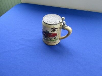 1980 Budweiser Lidded Holiday Stein Ceramarte with Lid