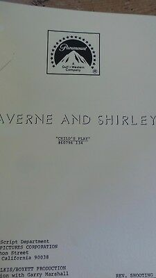 Laverne And Shirley Tv Series Show Script Episode Childs Play