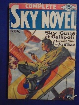 Complete Sky Novel November 1930  Very Rare 2nd Issue
