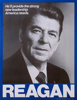Official 1976 Ronald Reagan Republican Primary Campaign Poster (4928)