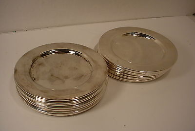 18 Oneida Silverplate Bread Butter dessert 6 Inch Plates Underplates