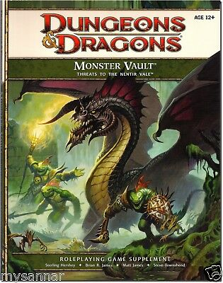 D&D MONSTER VAULT: Threats to the Nentir Vale 4th Essentials Manual (book only)