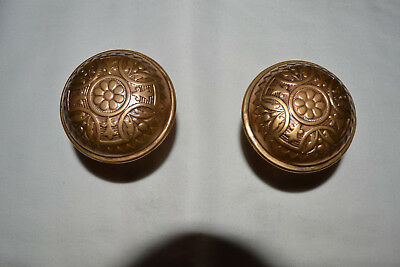 Antique Vintage Set Of Brass Door Knobs