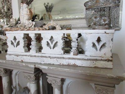 "OMG OLD Chippy White ARCHITECTURAL PEDIMENT HEADER Ornate 33"" Ornate Salvage"