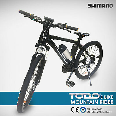 ELECTRIC BIKE 36V 9Ah 250W MOTOR PEDAL ASSIST SHIMANO GEARS MTB PAS BICYCLE BLK