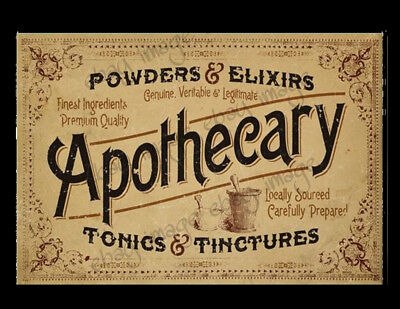 Large Apothecary Medicinal Label   #546